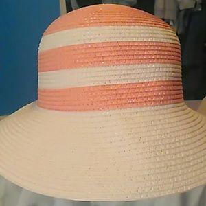 Magid Hats White & Peach Striped Hat